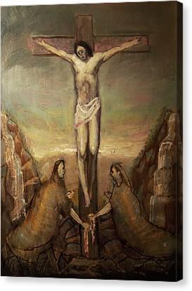 The Crucifixion Of Christ Canvas Print by Derek Van Derven