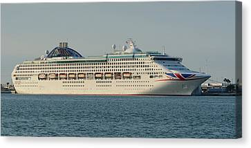Canvas Print featuring the photograph The Cruise Ship Oceana by Bradford Martin