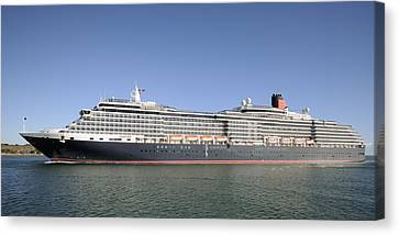 Canvas Print featuring the photograph The Cruise Ship Queen Victoria by Bradford Martin