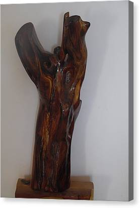 Canvas Print featuring the sculpture The Cry Of Angels by Esther Newman-Cohen