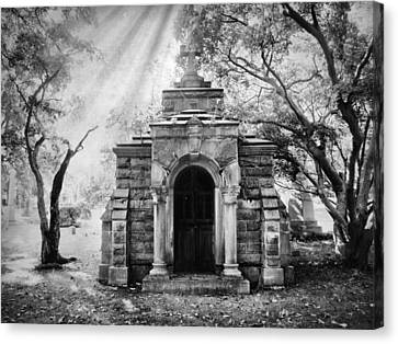 The Crypt At Woodlawn Canvas Print by Jessica Jenney