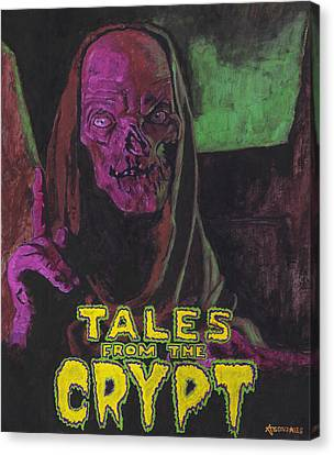 Demon Canvas Print - Tales From The Crypt With Text Logo Trademark by Aljohn Gonzales