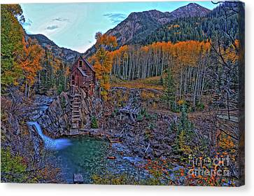 Canvas Print featuring the photograph The Crystal Mill by Scott Mahon