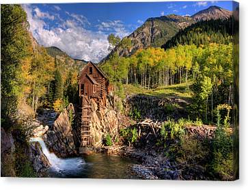 Crystal Colorado Canvas Print - The Crystal Mill And The Crystal River by Ken Smith
