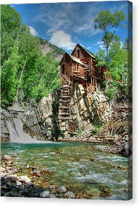 The Crystal Mill In Crystal Colorado Canvas Print by Ken Smith