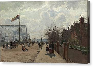 The Crystal Palace Canvas Print by Camille Pissarro