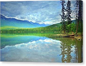 Canvas Print featuring the photograph The Crystal Waters Of Lake Annette by Tara Turner