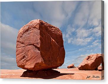 The Cube At Monument Valley Canvas Print