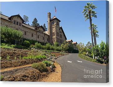 Napa Valley And Vineyards Canvas Print - The Culinary Institute Of America Greystone St Helena Napa California Dsc1694 by Wingsdomain Art and Photography