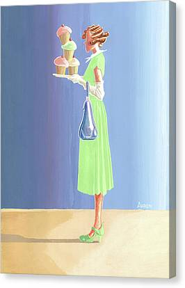 The Cupcake Lady Canvas Print