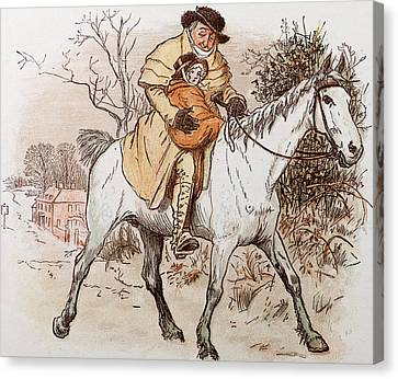 The Curmudgeons Christmas  Horse Riding  Canvas Print