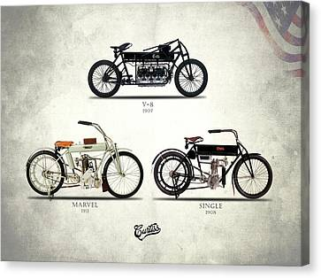 The Curtiss Motorcycle Collection Canvas Print by Mark Rogan