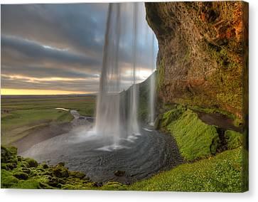 Waterfalls Canvas Print - The Curtrain by Amnon Eichelberg