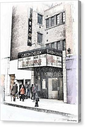The Curzon Cinema Chelsea London Uk Canvas Print by Alan Armstrong