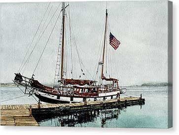 The Cutty Sark In Penn Cove Fog Canvas Print