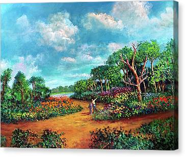 Canvas Print featuring the painting The Cycle Of Life by Randol Burns