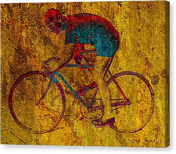 The Cyclist Canvas Print by Andrew Fare