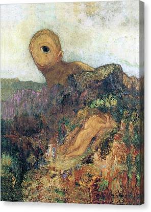 Cyclops Canvas Print - The Cyclops by Odilon Redon