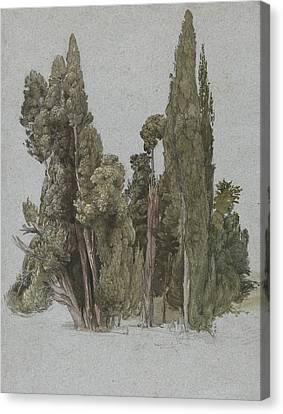 The Cypresses At The Villa D'este, Tivoli Canvas Print by Samuel Palmer