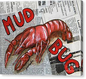 The Daily Mud Bug Canvas Print by JoAnn Wheeler