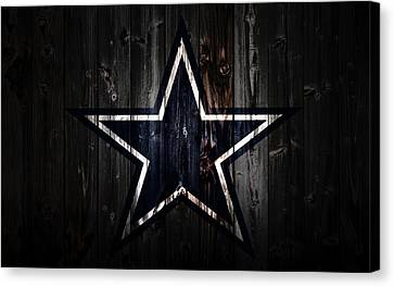 Wooden Bowl Canvas Print - The Dallas Cowboys 2a by Brian Reaves