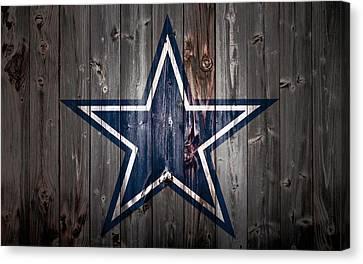 Wooden Bowl Canvas Print - The Dallas Cowboys 2b by Brian Reaves