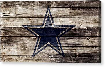Wooden Bowl Canvas Print - The Dallas Cowboys 2w by Brian Reaves