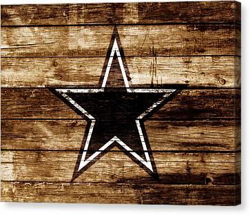 The Dallas Cowboys 4b                              Canvas Print by Brian Reaves