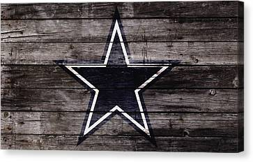 Wooden Bowl Canvas Print - The Dallas Cowboys 4w by Brian Reaves