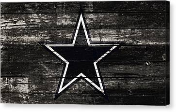 Wooden Bowl Canvas Print - The Dallas Cowboys 5w by Brian Reaves