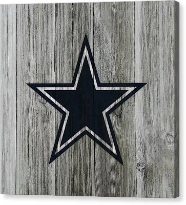 Wooden Bowl Canvas Print - The Dallas Cowboys C2                              by Brian Reaves