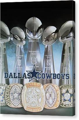 The Dallas Cowboys Championship Hardware Canvas Print by Donna Wilson