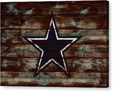 The Dallas Cowboys D1                             Canvas Print by Brian Reaves