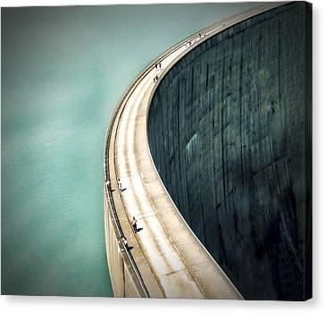 The Dam ... Canvas Print by Anna Cseresnjes