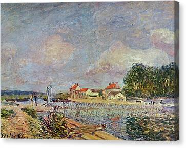 The Dam Canvas Print by Alfred Sisley