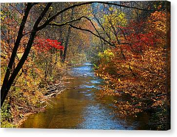 The Dan River Canvas Print by Kathryn Meyer