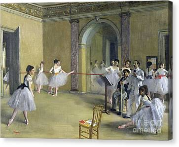 The Dance Foyer At The Opera Canvas Print by MotionAge Designs