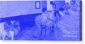 The Dance Lesson - Edgar Degas -  Japanese Porcelain Concept Canvas Print