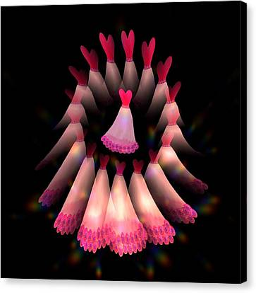 The Dance Of The Heart Women Canvas Print by Jacqueline Migell