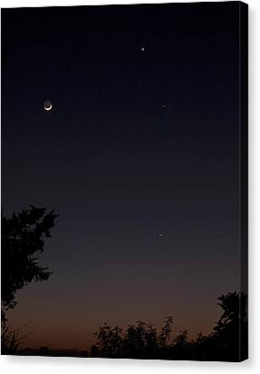 Canvas Print featuring the photograph The Dance Of The Planets by Odille Esmonde-Morgan