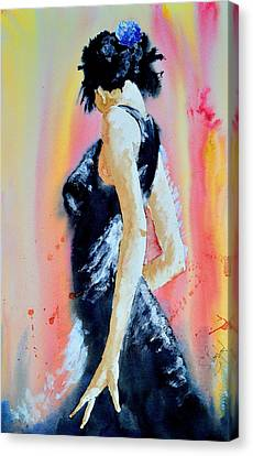 Canvas Print featuring the painting The Dance by Steven Ponsford