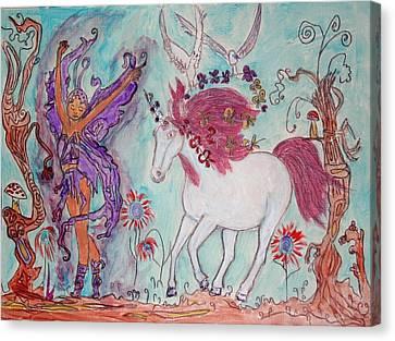 the Dance Canvas Print