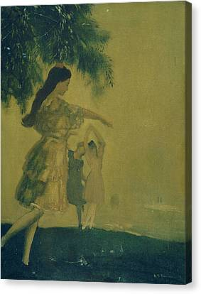 The Dancers Canvas Print by Arthur Bowen Davies