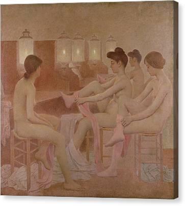 The Dancers Canvas Print by Fernand Pelez