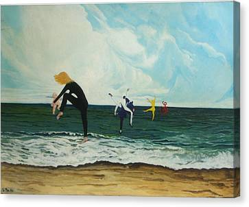 The Dancers Canvas Print by Georgette Backs
