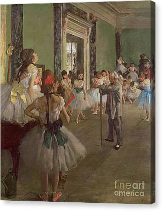 Ballet Dancers Canvas Print - The Dancing Class by Edgar Degas