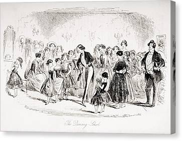 The Dancing School. Illustration By Canvas Print by Vintage Design Pics