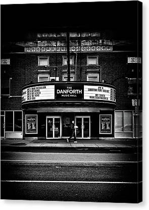 Canvas Print featuring the photograph The Danforth Music Hall Toronto Canada No 1 by Brian Carson