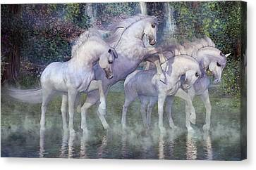 Peaceful Scene Canvas Print - The Dapples Of Vienna by Betsy Knapp
