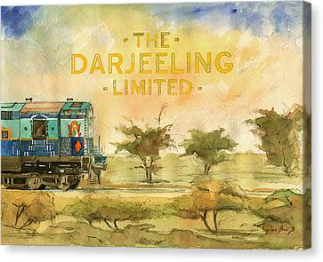 The Darjeeling Limited Poster Film Wes Anderson Canvas Print by Juan  Bosco